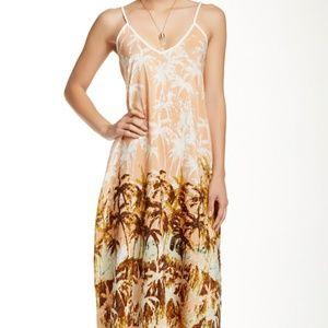Lovestitch palm tree print maxi dress size M/L